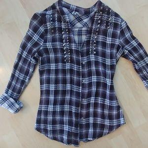 BKE light weight plaid shirt